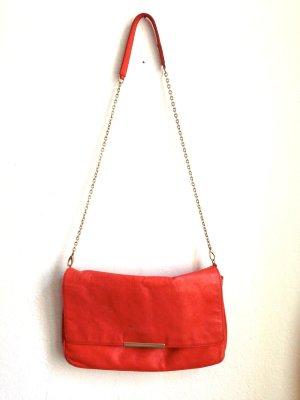Orange Tasche aus echtem Leder von Zara, 35x24x11cm