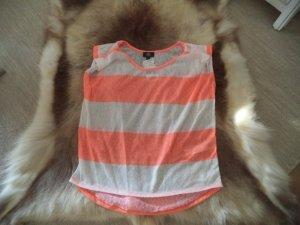 Orange-weiß gestreiftes Shirt, neu mit Etikett