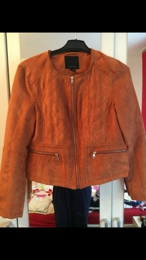 Orange wildlederoptik Jacke gr 38