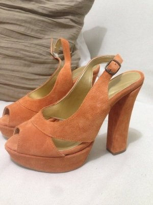 orangefarbende HighHeels in gr. 38