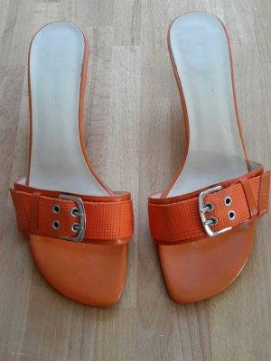 Orangefarbene Sommer Sandale Gr.39