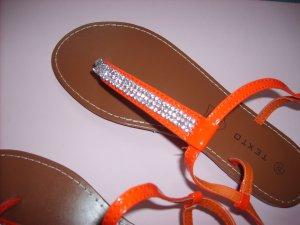 Sandalo toe-post rosso Sintetico