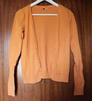 orangefarbener Cardigan von H&M