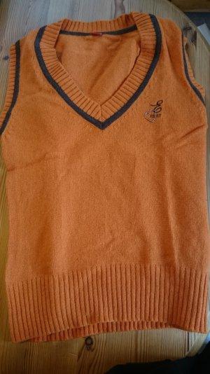 orangefarbener Pullunder von esprit Größe L
