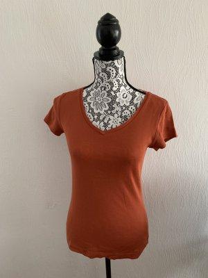 Orangefarbenes T-Shirt von s. Oliver Gr. 36