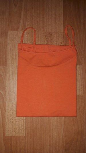 Orangefarbenes Top S