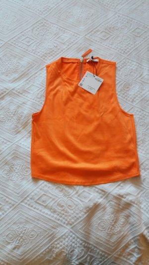 Orangefarbenes Top von Zara