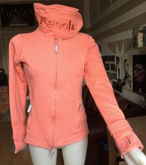 Orangene Bench Jacke mit Kragen S