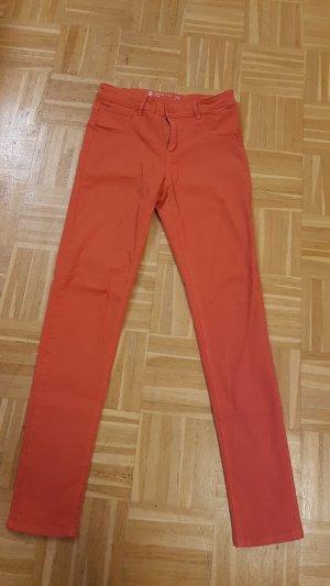 Orangene Jeggins Grösse M
