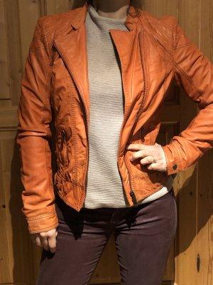 Milestone Leather Jacket orange-neon orange