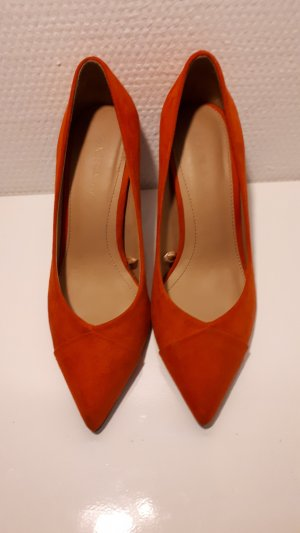 Zara Escarpins orange foncé