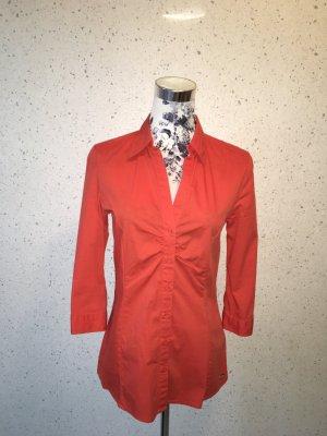 Orangene s. Oliver Bluse mit Knöpfen; ¾ Arm; Größe 34; neuwertig
