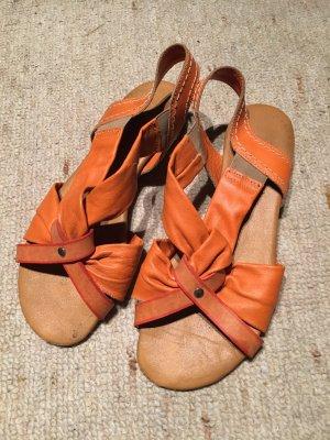 Strapped Sandals orange