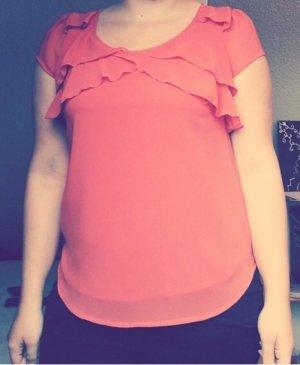 Orangene Vero Moda Bluse