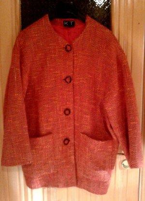 orangener Blazer, Wollblazer, eleganter Blazer,  Gr. 38