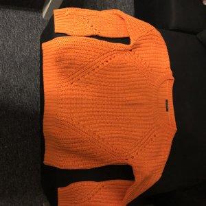 Promod Pullover a maglia grossa arancione-arancio neon Cotone