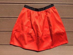 Orangener Rock, high waist