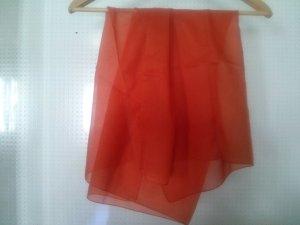 orangener Schal / Halstuch