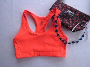 orangener Sport BH Bustier von H&M