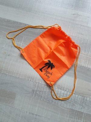 orangener Sportbeutel Beachbag