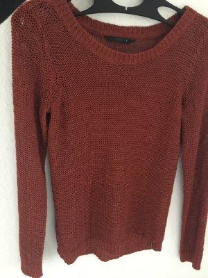 Only Coarse Knitted Sweater dark orange