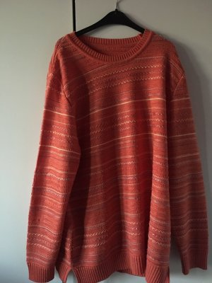 Orangener Vintage Pullover