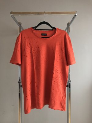 Orangenes Destroyed Shirt