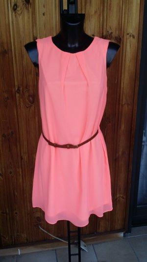Orangenes Neon Sommerkleid