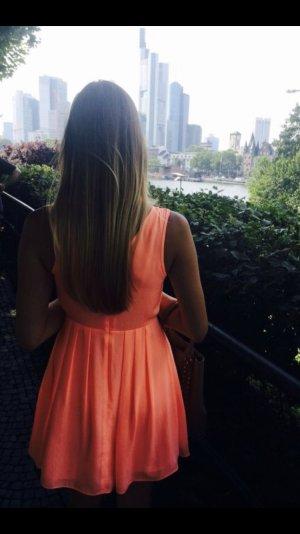 orangenes Sommerkleid von Topshop