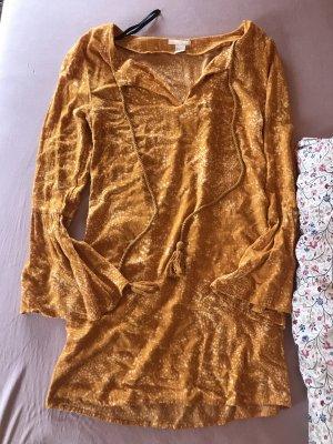 H&M Vestido Hippie naranja claro-naranja dorado