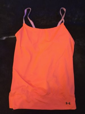 Under armour Sporttop neonoranje Gemengd weefsel