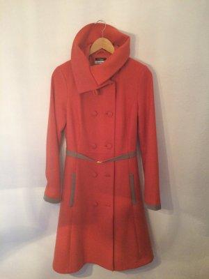 Karstadt Cappotto in lana arancio neon-arancione Lana