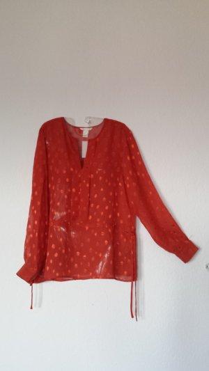 Orangerote, dünne Bluse H&M Gr.40