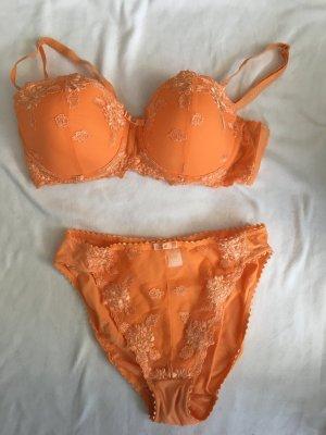 Infinity woman Set lingerie arancione