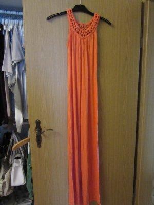 oranges langes Kleid Gr.XS