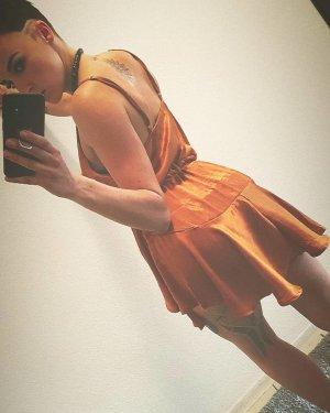 Evening Dress cognac-coloured