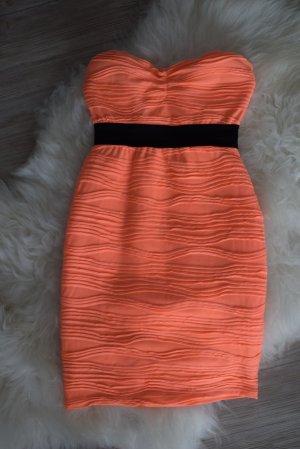oranges Minikleid Größe 34