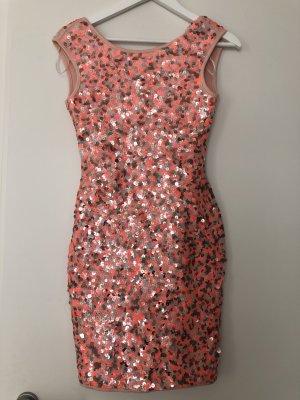 H&M Vestido de lentejuelas multicolor Licra
