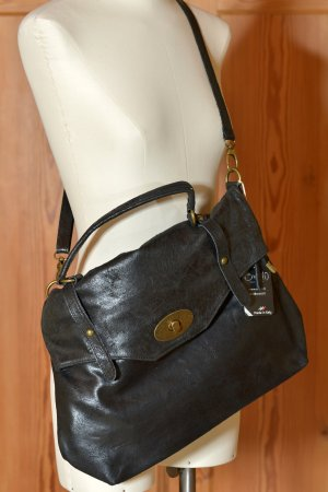Bag black-anthracite leather