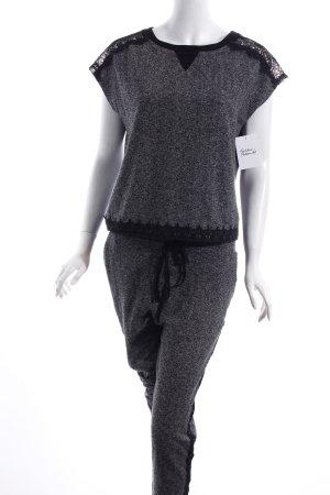 Orfeo negro Hausanzug grau-schwarz klassischer Stil