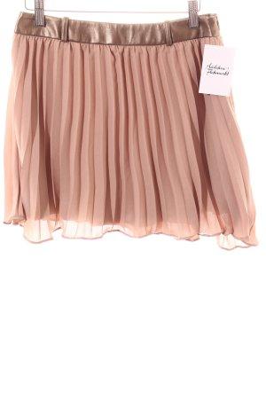 Orfeo negro Pleated Skirt beige metallic look