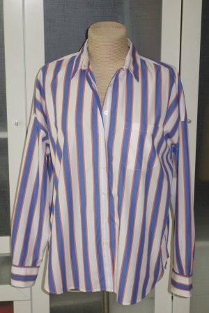 Org. 0039 Italy oversized Bluse mit Streifen Gr.S top