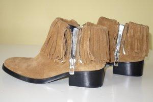 Org. 3.1 PHILLIP LIM Alexa Ankle Boots mit Fransen Wildleder NEU+Karton Gr.38