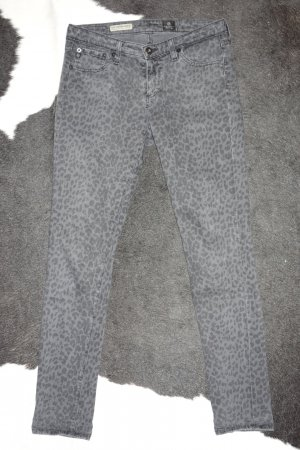 "Org. AG Adriano Goldschmied ""The Legging Ankle"" super skinny Jeans mit Leo Print Gr.27"