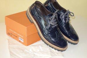 AGL Zapatos brogue azul oscuro