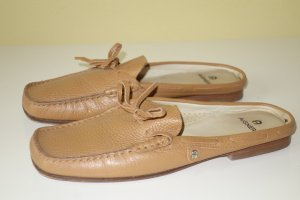 Aigner Low Shoes sand brown leather
