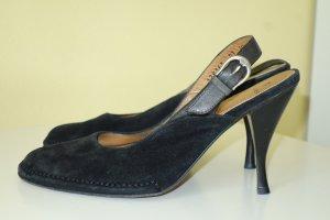 Aigner Slingback Pumps black leather