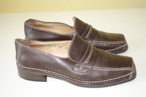 Aigner Slip-on Shoes dark brown leather