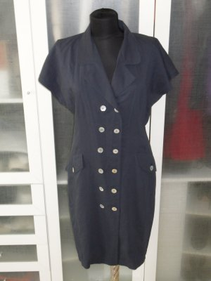 Org. AIGNER vintage Hemdblusenkleid in dunkelblau Gr.40