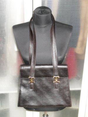 Org. AIGNER vintage Leder Tasche in braun mit Struktur top